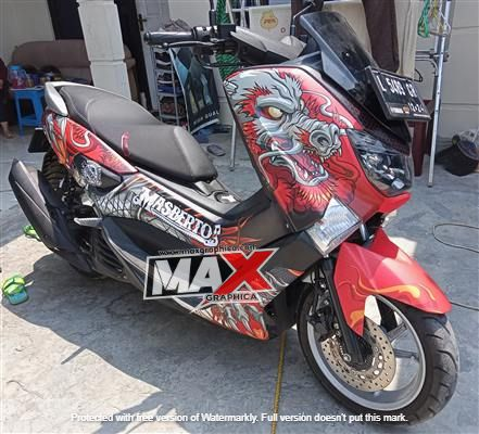 Sticker Decal Nmax Grafis Minimalis terbaru